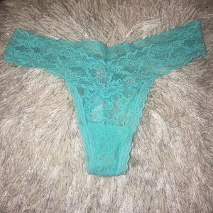 Victoria's Secret Tiffany Blue Thong